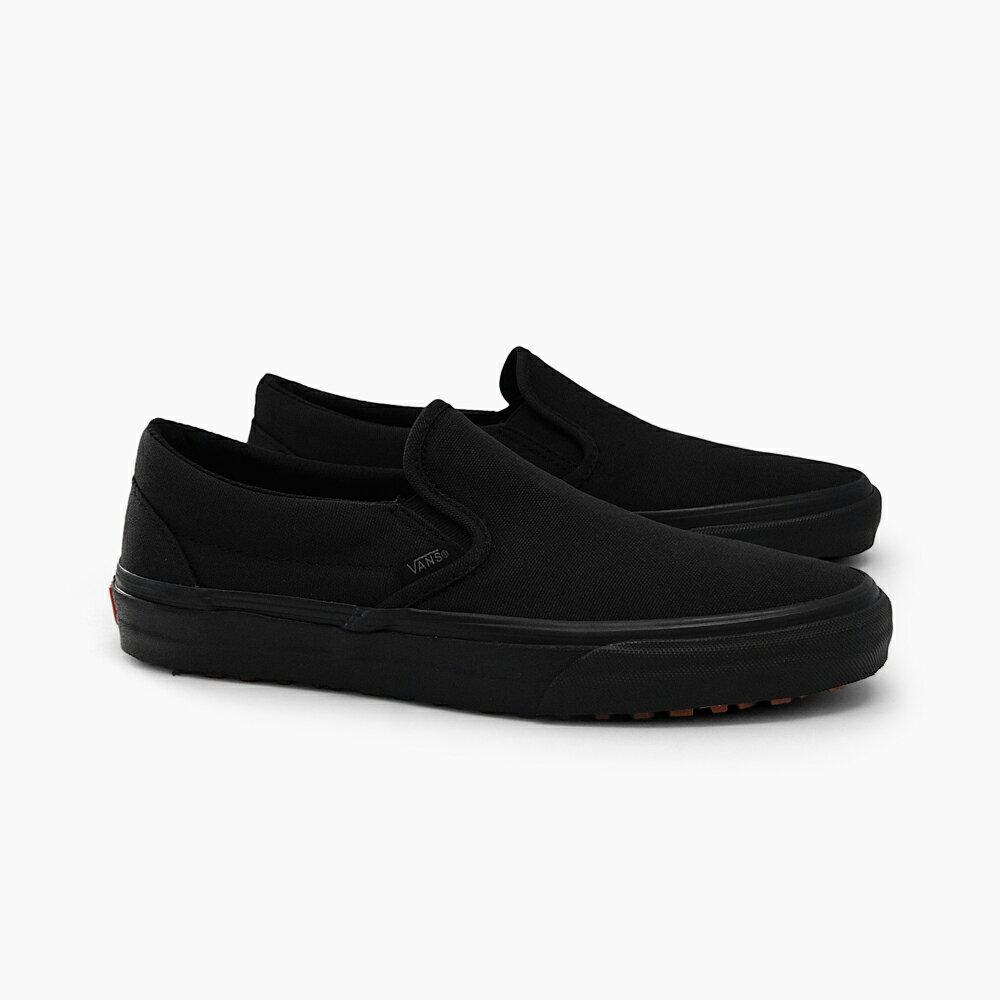 VANS バンズ スリッポン CLASSIC SLIP-ON UC MEN'S [(MFTM)BLACK/BLACK VN0A3MUDQBX]メンズ スリップ オン オールブラック ブラック 黒 撥水キャンバス 店舗限定 スニーカー 作業靴 ワークシューズ