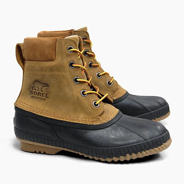 SOREL CHEYANNE II CHIPMUNK BLACK NM2575 224 ソレル ブーツ メンズ 定番 ウィンターブーツ ナイロン 防水 防寒 耐寒 シャイアンII 冬用 スノーブーツ