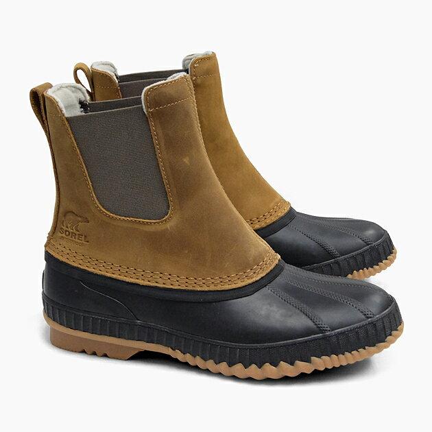 SOREL CHEYANNE II CHELSEA ELK BLACK NM2609 286 ソレル ブーツ メンズ サイドゴア 定番 ウィンターブーツ ナイロン 防水 防寒 耐寒 シャイアンII 冬用 サイドゴアブーツ スノーブーツ