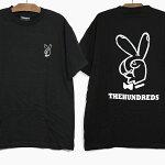 THEHUNDREDSザハンドレッズ半袖TシャツPEACESIGNS/STEET18S101037ブラックプリントピースサインティーシャツ黒トップス