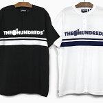 ザハンドレッズヘンリーネック半袖TシャツTHEHUNDREDSPACIFICHENLEYT18S109004ホワイトブラックBARLOGOバーロゴラインティーシャツ白黒トップス