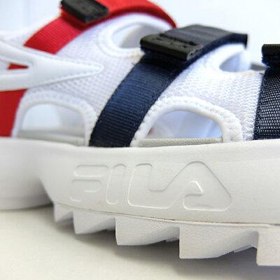 フィラメンズレディースサンダルFILADISRUPTORSD[WHITEF03043081]ディスラプターサンダル白紺赤ホワイトレイビーレッドトリコロール靴ダッドスニーカー定番厚底