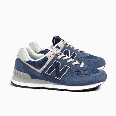 ニューバランス574NEWBALANCEML574NAVYメンズレディーススニーカーML574EGNスエードネイビー紺色M574