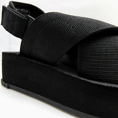 シャカサンダル厚底レディースフィエスタプラットフォームSHAKAFIESTAPLATFORMBLACKブラック黒グレースポーツサンダルコンフォートサンダルアウトドア野外フェス