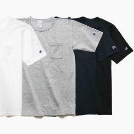 【20%OFF】チャンピオン 半袖 ポケットTシャツ CHAMPION T1011 US 無地 春夏 新作 MADE IN USA C5-B303