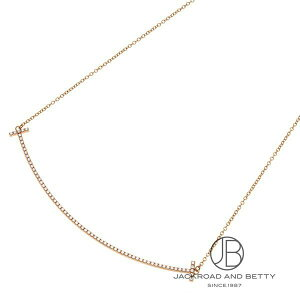 ティファニー TIFFANY&Co. Tスマイルペンダント ネックレス ダイヤモンド K18PG ラージ 34946086 新品 ジュエリー ブランドジュエリー