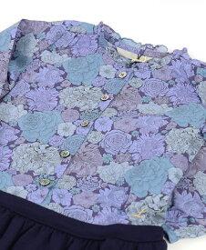 """ル レ—ヴ ドゥ リリー(Le reve de Lily)コットン ウール キッズ フリルカラー リバティ切替 ワンピース """"Ruffle Collar LIBERTY Top Dress""""・LKG-12-3201402【レディース】"""