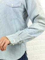 "chimala(チマラ)コットンシャンブレーワークシャツ""CHAMBRAYWORKSHIRT""・CS18-S01A"