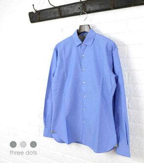 Three Dodds (three dots) cotton long sleeves regular shirt, SO239M-0441501