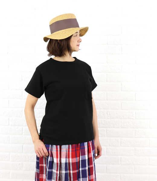 g() Gauze# Basic Line(グラム)コットン 度詰め裏毛 半袖 Tシャツ・g027-3541601【レディース】