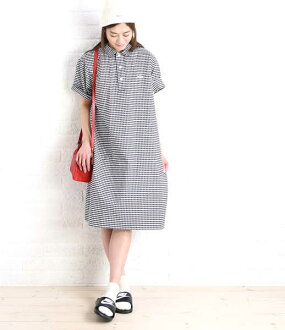Danton (DANTON) cotton Oxford short sleeves shirt-dress, JD-3610TRD-0321701