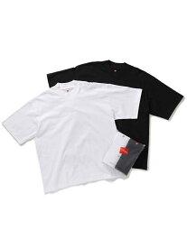 【Hanes for BIOTOP】2P Mock-Neck T-Shirts/Unisex ADAM ET ROPE' アダムエロペ カットソー カットソーその他 ブラック ネイビー【先行予約】*【送料無料】[Rakuten Fashion]