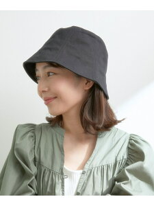 ツイルチューリップハット ViS ビス 帽子/ヘア小物 ハット ブラック ベージュ[Rakuten Fashion]