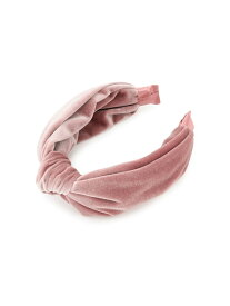 [Rakuten Fashion]【ViSage】ベロアリボンカチューシャ ViS ビス 帽子/ヘア小物 カチューシャ/ヘアバンド ピンク ベージュ グリーン【先行予約】*