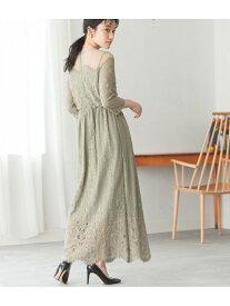 [Rakuten Fashion]チュールパネルレースドレス ADAM ET ROPE' アダムエロペ ワンピース ワンピースその他 グリーン ブラック ブルー【送料無料】