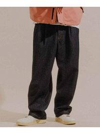【SALE/10%OFF】【コットンUSA】ドライタッチ デニムワイドバギーパンツ/UNISEX ADAM ET ROPE' アダムエロペ パンツ/ジーンズ ジーンズその他 ネイビー ホワイト【RBA_E】【送料無料】[Rakuten Fashion]