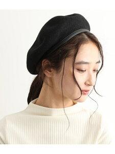 [Rakuten Fashion]【SALE/60%OFF】合皮パイピングフェルトベレー ViS ビス 帽子/ヘア小物 ベレー帽 ブラック グレー ブラウン【RBA_E】