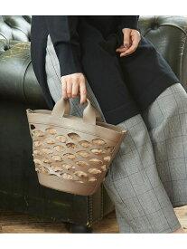 [Rakuten Fashion]【SALE/40%OFF】【Legato Largo(レガートラルゴ)】レザーネットXフェイクファートートバッグ ROPE' PICNIC PASSAGE ロペピクニック バッグ トートバッグ ブラウン ホワイト【RBA_E】