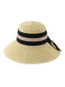 [Rakuten Fashion]【SALE/60%OFF】【UV&抗菌防臭】たためるリボンつば広ハット ViS ビス 帽子/ヘア小物 ハット ブラック グレー ブラウン ネイビー【RBA_E】