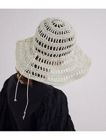 【La Maison de Lyllis】TULIP MESH HAT MADEMOISELLE ROPE' ロペ 帽子/ヘア小物 ハット ホワイト ブラウン【先行予約】*【送料無料】[Rakuten Fashion]