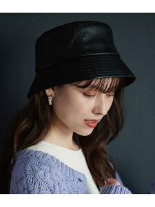 【SALE/20%OFF】エコレザーバケットハット ViS ビス 帽子/ヘア小物 ハット ブラック ベージュ【RBA_E】[Rakuten Fashion]
