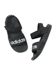 【KIDS】【adidas】アディダス ADILETTE SANDAL ROPE' PICNIC ロペピクニック シューズ サンダル/ミュール ブラック ピンク[Rakuten Fashion]