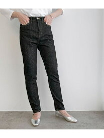 [Rakuten Fashion]ハイウエストスリムストレートデニムパンツ ROPE' mademoiselle ロペ パンツ/ジーンズ ジーンズその他 ブラック ネイビー【送料無料】