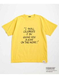 【SALE/40%OFF】【PEANUTS * WILD LIFE TAILOR】HELLO T/UNISEX WILD LIFE TAILOR Adam et Rope' アダムエロペ カットソー カットソーその他 イエロー ブラック ホワイト【RBA_E】【送料無料】[Rakuten Fashion]