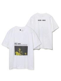 【SALE/40%OFF】【CONCORD * 10C】Miles Davis T/UNISEX ADAM ET ROPE' アダムエロペ カットソー カットソーその他 ホワイト ブラック【RBA_E】【送料無料】[Rakuten Fashion]