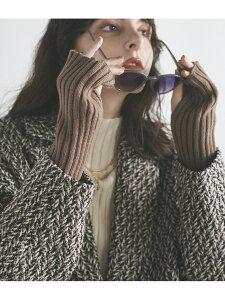 [Rakuten Fashion]【ウォッシャブル】ニットアームウォーマー ViS ビス ファッショングッズ 手袋 ブラウン ベージュ