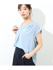 [Rakuten Fashion]異素材スキッパーブラウス ViS ビス シャツ/ブラウス シャツ/ブラウスその他 ブラック ホワイト ベージュ ブルー