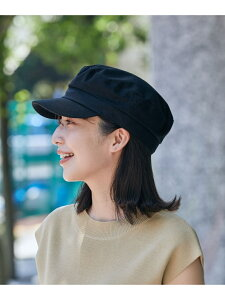 ツイルマリンキャスケット ViS ビス 帽子/ヘア小物 帽子その他 ブラック ベージュ[Rakuten Fashion]