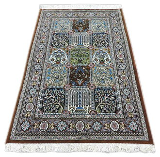 Persian Rugs And Carpets Corks 100 Hand Woven Authentic Made In Iran Qom Front Grill 147 X Cm
