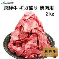 【JAひだ】飛騨牛ギガ盛り焼肉用2kg送料無料※北海道・沖縄別途送料1000円※