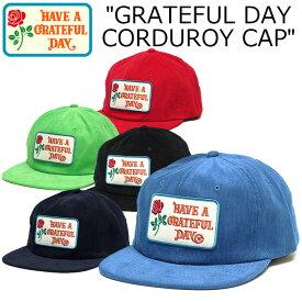 """【GOWEST】ゴーウェスト GWG4002HGD""""GRATEFUL DAY CORDUROY CAP / GRATEFUL DAY COLLECTION""""グレイトフル デイ コーデュロイ キャップ Cali Headwear カリヘッドウェア 帽子 スナップバック ナチュラル アウトドア フェス【メンズ】【レディース】【ユニセックス】5カラー"""