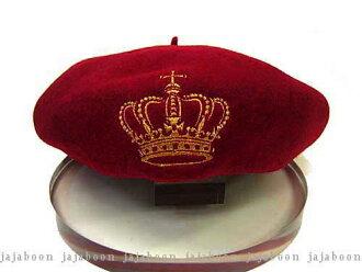 JAJABOON王冠贝雷帽红