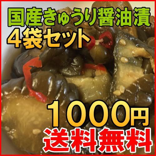 【送料無料】国産 きゅうり醤油漬け、梅酢ごぼう 2種類から選べる4袋セット 宮崎産 ご飯のお供 漬け物 ポイント消化 メール便