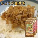 万能おかず生姜 しょうが醤油漬け 国産 130g×3袋 ふりかけ 1000円ポッキリ 送料無料 辛みそ生姜も選べます 刻みしょ…