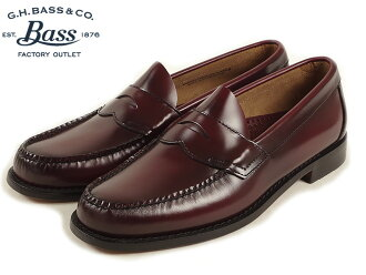 Bus G.H.BASS # 149 penny loafers Logan ブラッシュオフ leather Burgundy ( LOGAN BRUSH OFF LEATHER )
