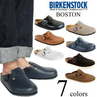 古董的ビルケンシュトックBIRKENSTOCK波士顿棕色■印花大手帕礼物■(BOSTON ANTIQUE BROWN皮革拖鞋椰子fs3gm)