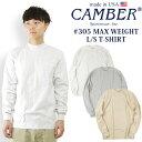 キャンバー CAMBER 305 マックスウェイト 長袖 クルー Tシャツ MADE IN USA (米国製 無地 ロンT)