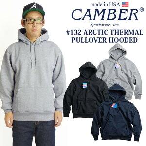 キャンバー CAMBER 132 アークティックサーマル プルオーバーフード MADE IN USA | メンズ パーカー アメリカ製 米国製 スウェット 定番 厚手 12.5オンス グレー ブラック ネイビー 黒 紺 防寒 サイ