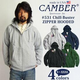 キャンバー CAMBER 531 チルバスター ジップフード MADE IN USA(アメリカ製 米国製 スウェット パーカー)