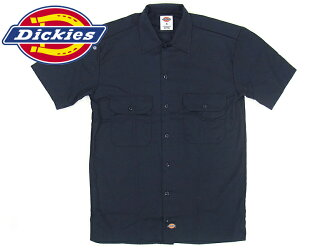 Dickies Dickies 1574 short-sleeved work shirt dark navy (S/S WORK SHIRT plain fabric)