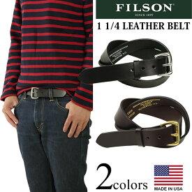 フィルソン FILSON 1 1/4インチ レザーベルト (父の日 アメリカ製 米国製 LEATHER BELT)