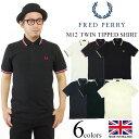 ■ポイント10倍■フレッドペリー FRED PERRY M12 ツインティップド 半袖 ポロシャツ (TWIN TIPPED 英国製 イングランド製 鹿の子)