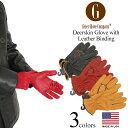ガイヤーグローブ GEIER GLOVE #250ES ディアスキングローブ レザービンディング (米国製 アメリカ製 Deerskin Glove with Leather Binding 革手袋)