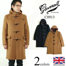 グローバーオール GLOVERALL C0913 オリジナルダッフルコート ジュニアサイズ 防寒 英国製 メンズ レディース | イングランド製 ブランド アウター ロングコート ネイビー 紺 タン タータンチェック裏地