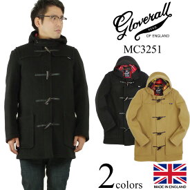グローバーオール GLOVERALL MC3251 ミッドレングス ダッフルコート (防寒 英国製 メンズ ハーフ ショート)