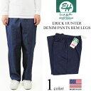 エリックハンター ERICK HUNTER デニムイージーパンツ (米国製 DENIM PANTS HEM LEGS バギーパンツ)